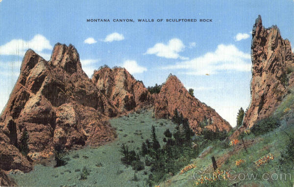 Montana Canyon, Walls of Sculptored Rock Scenic