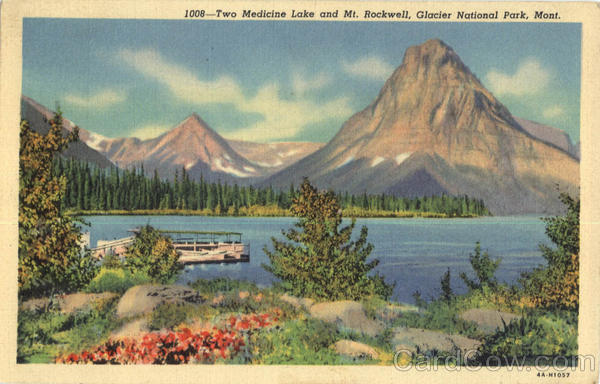 Two Medicine Lake and Mt. Rockwell Glacier National Park Montana