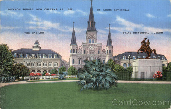 Jackson Square, St. Louis Cathedral, The Cabildo, State Historical Museum New Orleans Louisiana