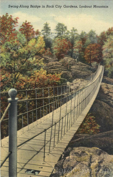 Swing-Along Bridge in Rock City Gardens Lookout Mountain Tennessee