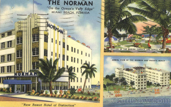 The Norman, On the Ocean's Very Edge Miami Beach Florida
