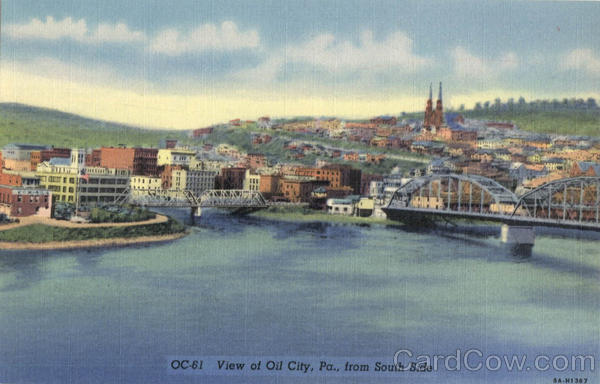 View of Oil City, South Side Pennsylvania