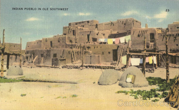 Indian Pueblo in Ole Southwest Native Americana