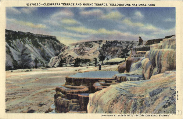 Cleopatra Terrace and Mound Terrace Yellowstone National Park Wyoming