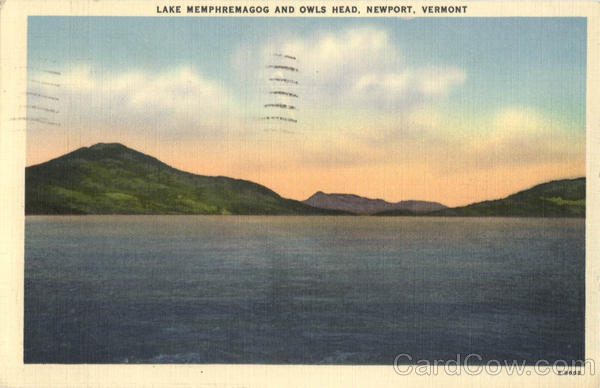 Lake Memphremagog And Owls Head Newport Vermont