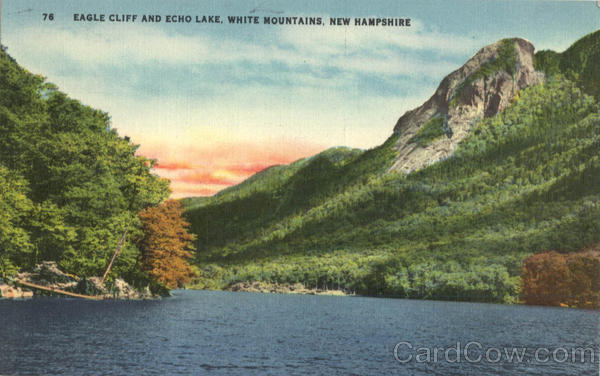 Eagle Cliff And Echo Lake White Mountains New Hampshire