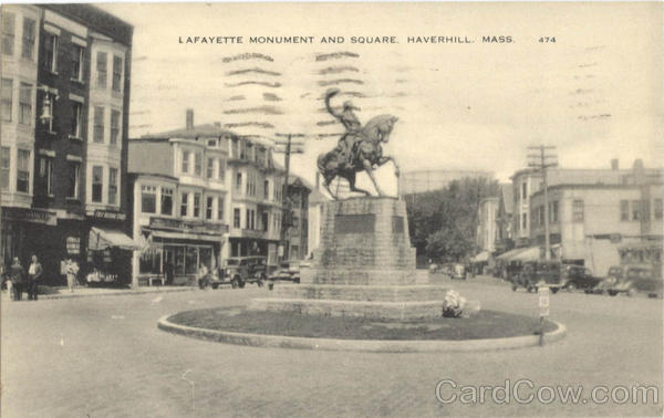 Lafayette Monument and Square Haverhill Massachusetts