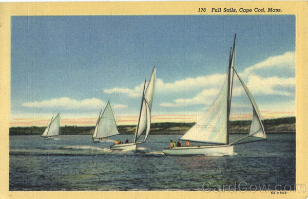 Full Sails Cape Cod Massachusetts Sailboats