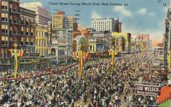 Canal Street During Mardi Gras New Orleans Louisiana