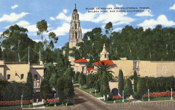 Plaza De Panama And California Tower, Balboa Park San Diego