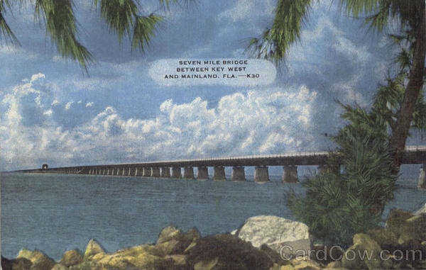Seven Mile Bridge, Between Key West and Mainland Scenic Florida