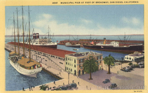 Municipal Pier at Foot of Broadway San Diego California