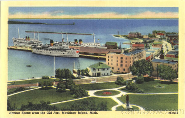 Harbor Scene from the Old Fort Mackinac Island Michigan