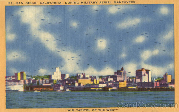 During Military Aerial Maneuvers San Diego California
