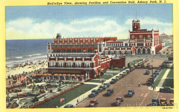 Bird's - Eye View, Pavilion and Convention Hall Asbury Park New Jersey
