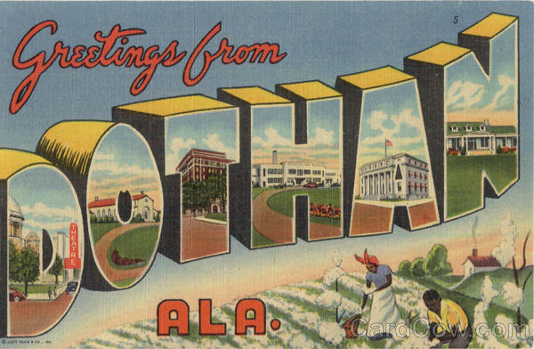 Greetings from Dothan Large Letter Alabama