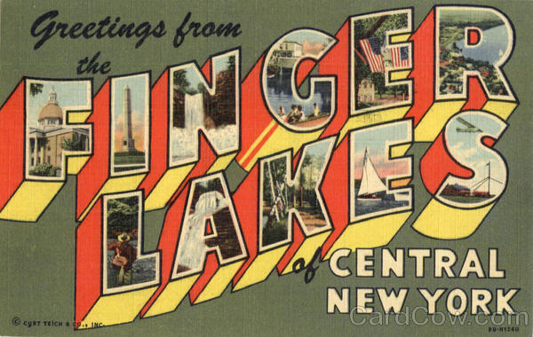 Greetings from Finger Lakes New York Large Letter