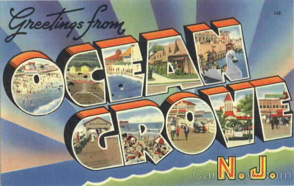 Greetings from Ocean Grove Large Letter New Jersey