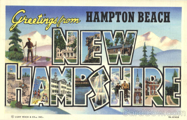 Greetings from Hampton Beach New Hampshire Large Letter