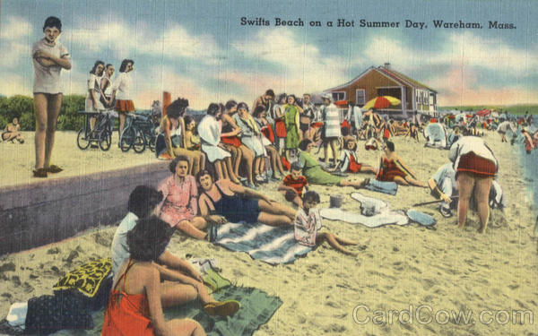 Swifts Beach on a Hot Summer Day Wareham Massachusetts