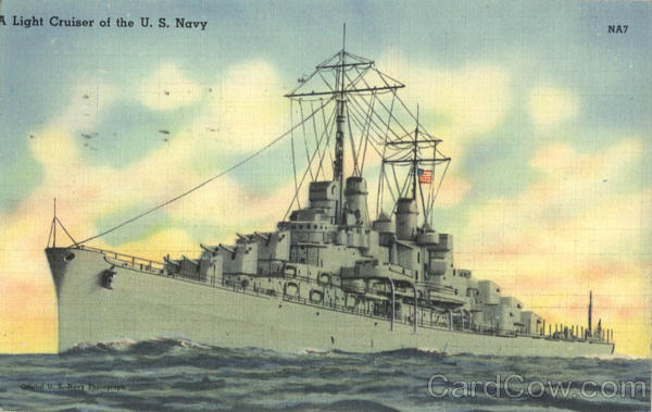A Light Cruiser of the U. S. Navy Boats, Ships