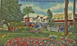 Business Section , City Park Postcard