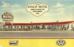 Ranch Motel, West Hi-Way 80 Postcard