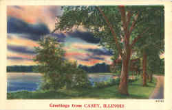 Greetings from Casey Postcard