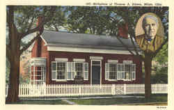 Birthplace of Thomas A. Edison Postcard
