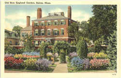 Old New England Garden Postcard