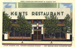 Kents Downtown Restaurant, Atlantic Ave., Opposite Railroad Station Postcard