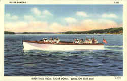 Motor Boating, Cedar Point Postcard