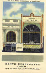 One of the Kents Restaurants, Atlantic Ave.at N. Carolina Ave Postcard