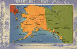 Tourist Map of Alaska and The Yukon Territory