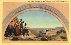 Utah Pioneers Of 1847 Entering Great Salt Lake Valley
