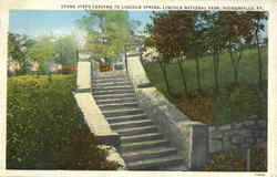 Stone Steps Leading To Lincoln Spring, Lincoln National Park Postcard