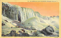 The American Falls In Winter
