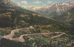 Switchbacks Rising out of Ouray on The Million Dollar Highway