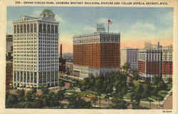 Grand Circus Park, Showing Whitney Building, Statler and Tuller Hotels