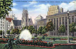 Sunken Gardens, Christ Church Cathedral And Public Library
