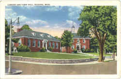Library And Town Hall Postcard
