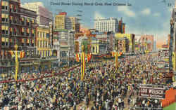 Canal Street During Mardi Gras