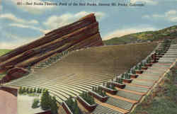 Red Rocks Theatre, Park of the Red Rocks Postcard