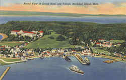 Aerial View of Grand Hotel and Village