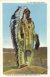 Old Chief Crazy Horse, A Leader in Sioux Indian Wars
