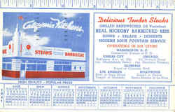 California Kitchens Diner 1941 Calendar