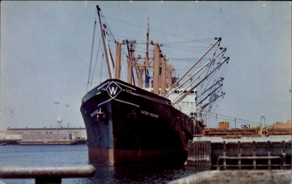 Freighter Loading At Port Hueneme Docks California