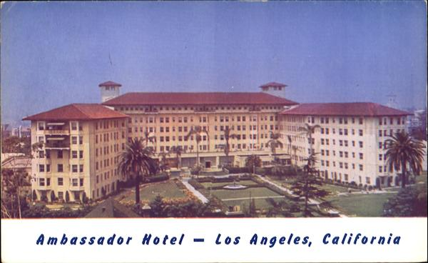 Ambassador Hotel And Pool Los Aneles California