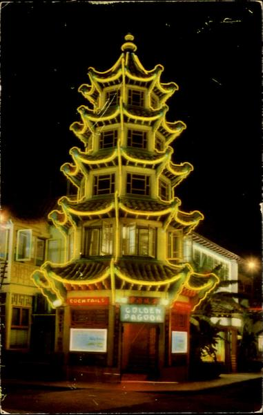 Golden Pagoda, 950 Mei Ling Way - Chinatown Los Angeles California