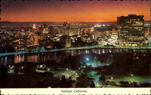 A Beautiful Night View Of Oakland California